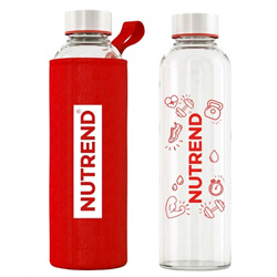 Nutrend Glass Bottle Red